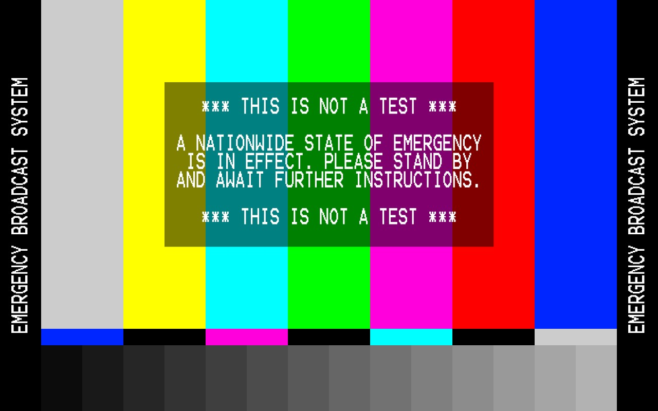 Image result for emergency broadcast system test